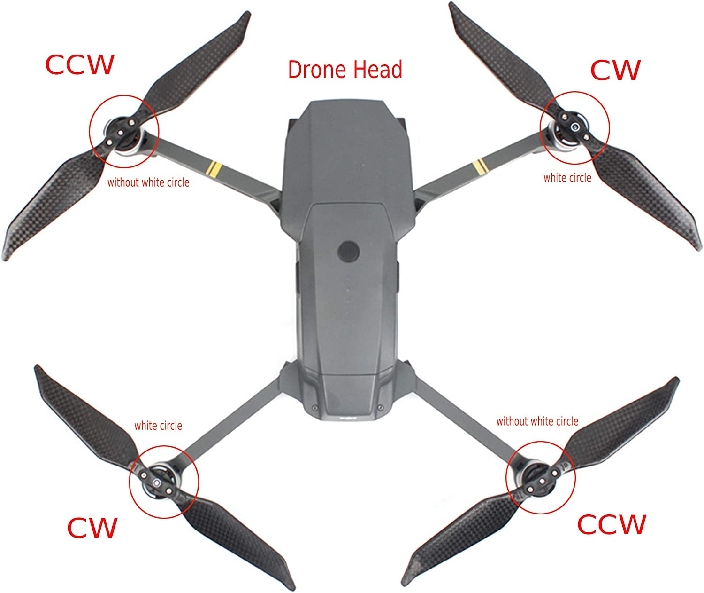 iEago RC 2 Pairs Foldable Carbon Fiber Propeller 8331F Low Noise CW /& CCW Props for DJI Mavic Pro//Platinum