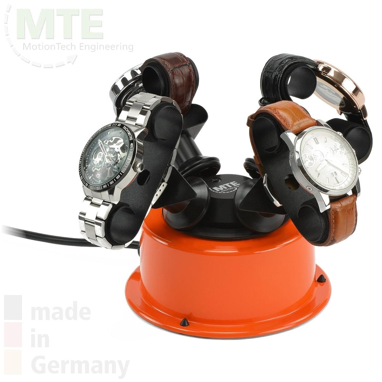 MTE Uhrenbeweger WTS 4 POP ORANGE fÜr bis zu 4 schwere Armbanduhren