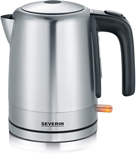 SEVERIN Bouilloire, 1 L, 2 200 W env., WK 3496, InoxNoir