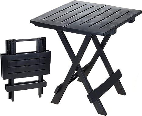 Mesa pequeña Adige para camping y jardín, ideal como mesa de café