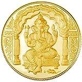 Gitanjali  1gm 24k (995) Yellow Gold Ganesh Precious Coin