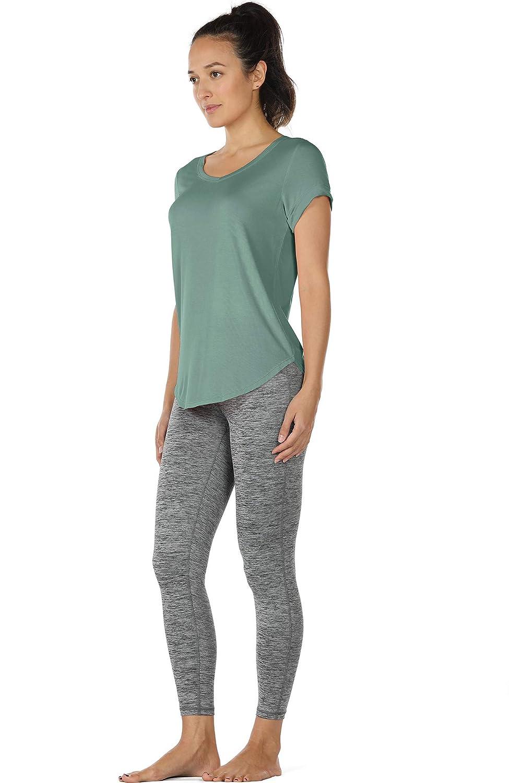 2er Pack icyzone Damen Yoga Jogging Racerback Tank Top Atmungsaktive Workout Gym Shirt
