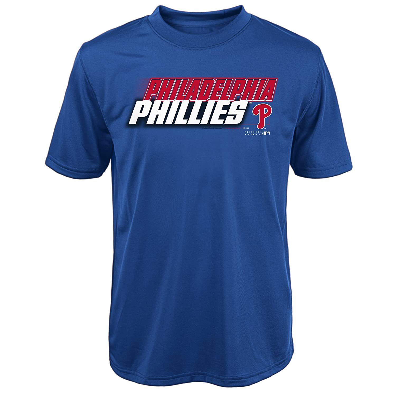 MLB Philadelphia Phillies Youth Boys 8 20 Kinetic Team City Tee XL 18 Deep Royal
