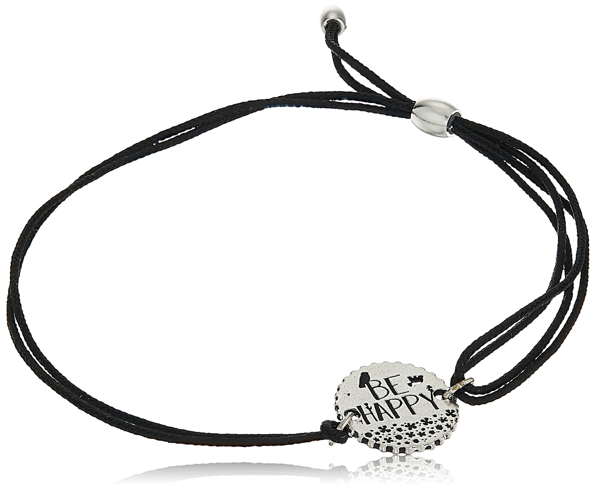 Alex and Ani Kindred Cord, Be Happy, Sterling Silver Bangle Bracelet