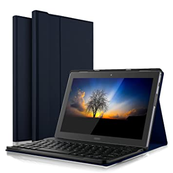 best website 28972 84931 IVSO Lenovo Tab 4 10 PLUS Bluetooth Keyboard Portfolio Case (QWERTY)  DETACHABLE Bluetooth Keyboard Stand Case/Cover for Lenovo Tab 4 10 PLUS  10.1 inch ...