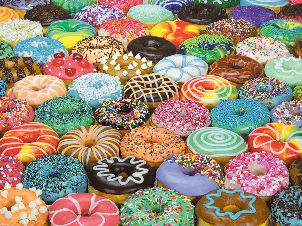 300 Large Piece Puzzle for Adults: Difficult Donuts Jigsaw Puzzle