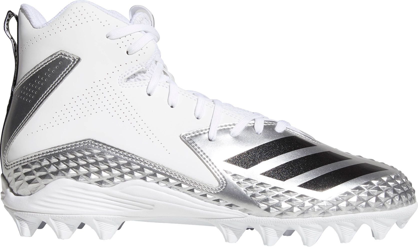 adidas Mens Freak Mid MD Von Football Cleats (White/Silver / 8 D(M) US) by adidas
