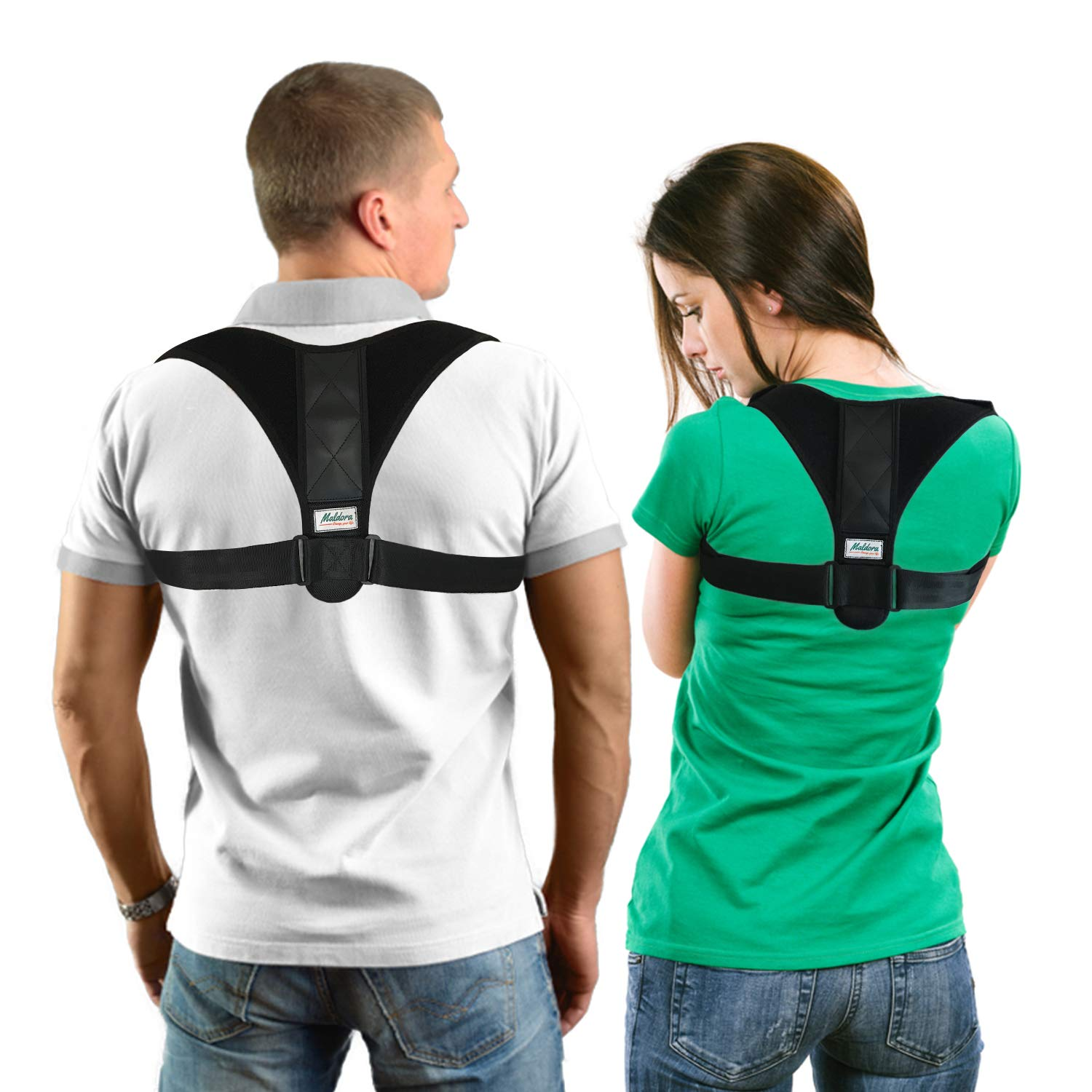 Back Support Brace Yotown Posture Corrector Corrector of Posture with Straight Support Ultrafine Breathable Bandage of Elastic in The Shoulder of The Shoulder for Men and Women