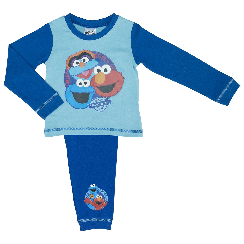Boys Furchester Hotel Pyjama Set Featuring Elmo, Cookie Monster and Furgus
