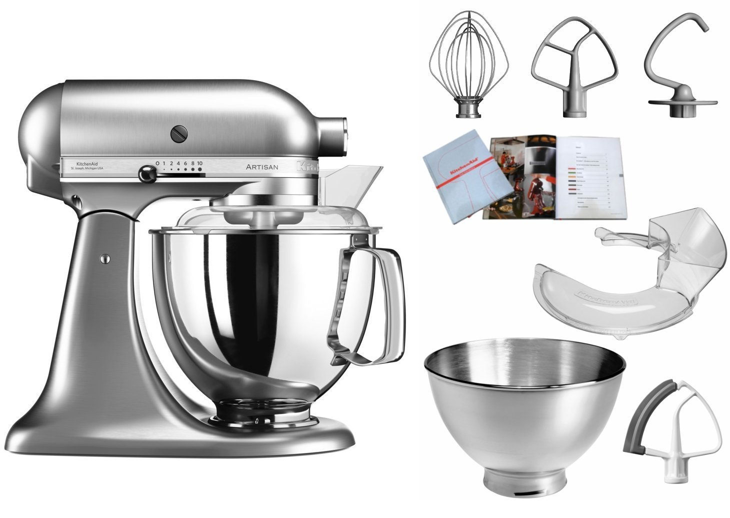 KitchenAid 5KSM175PSENK Metall gebürstet: Amazon.co.uk: Kitchen & Home