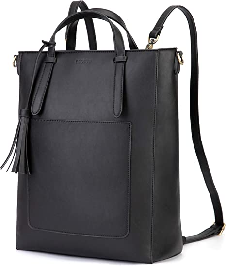 ECOSUSI Tote Bag Convertible Backpack for Women