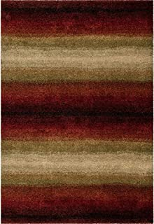 "product image for Orian Rugs Plush Stripes Skyline Red Area Rug (5'3"" x 7'6"")"