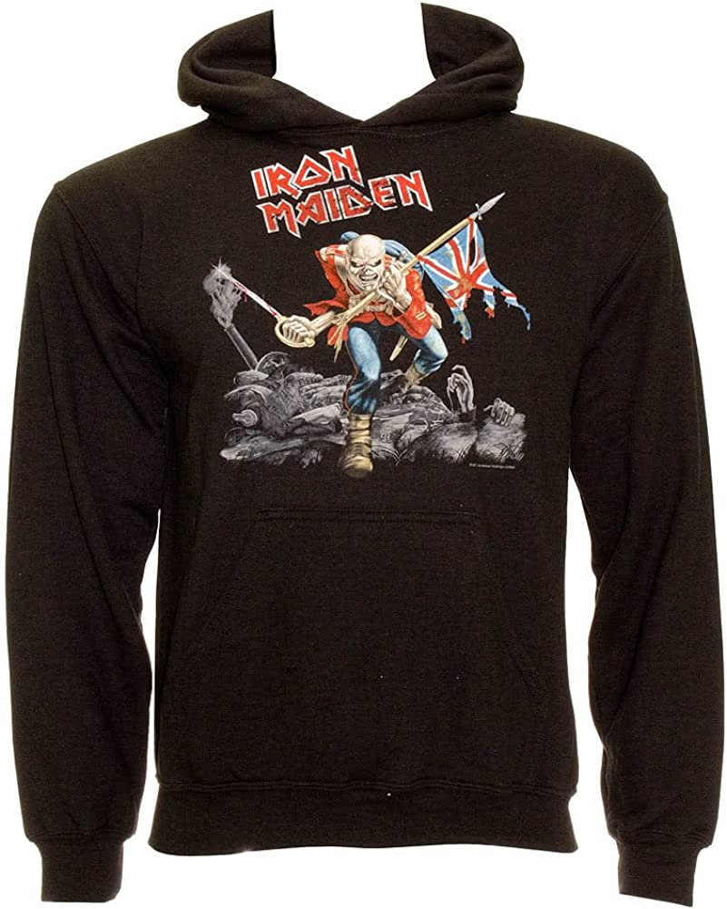 Offizieller Iron Maiden Kapuzenpullover Metal Trooper Logo Pullover