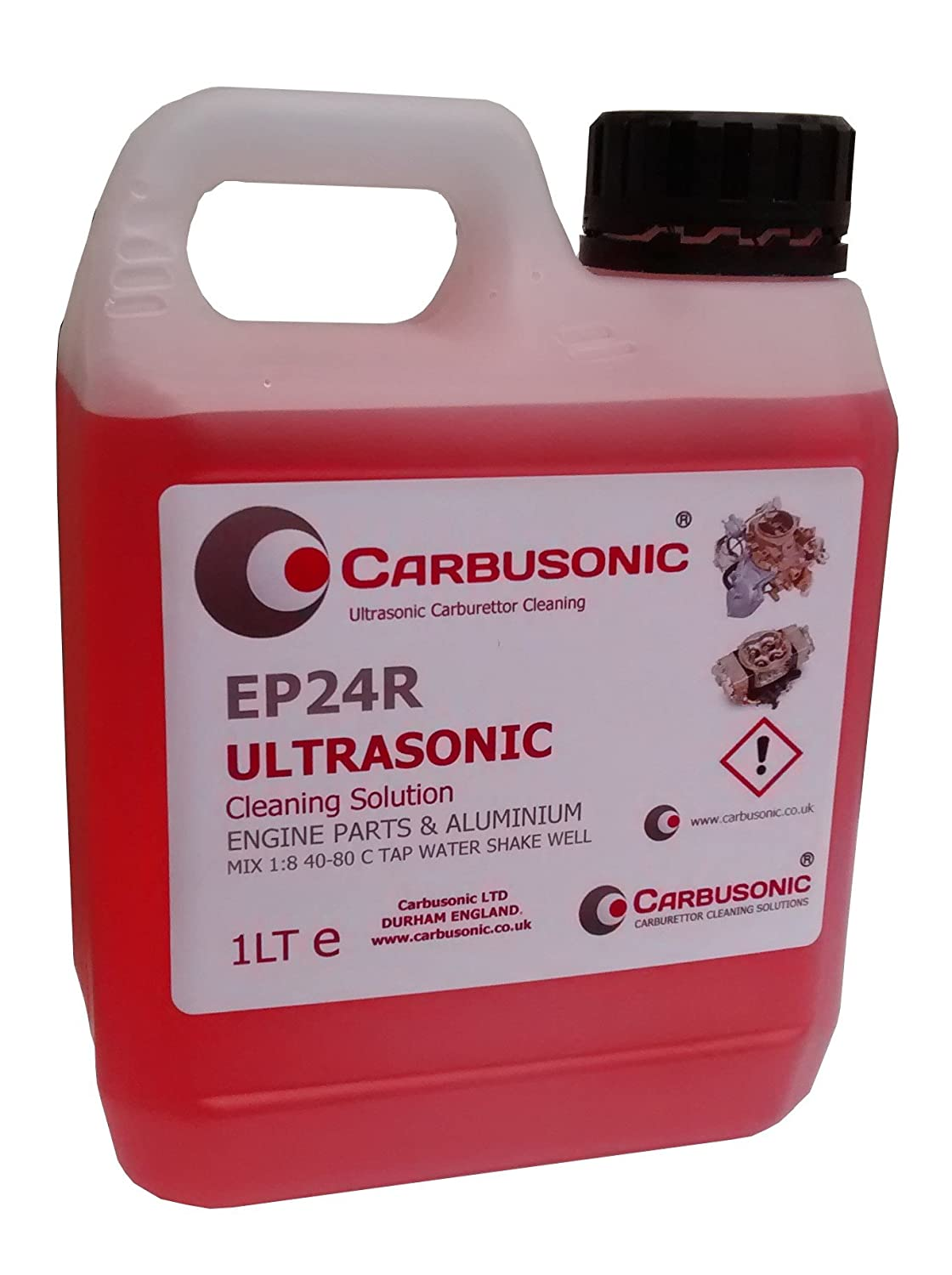 Ultrasonic carburettor automotive cleaning solution 1lt removes dirt and grease from engine parts, tools and motorbike parts 1 litre Carbusonic