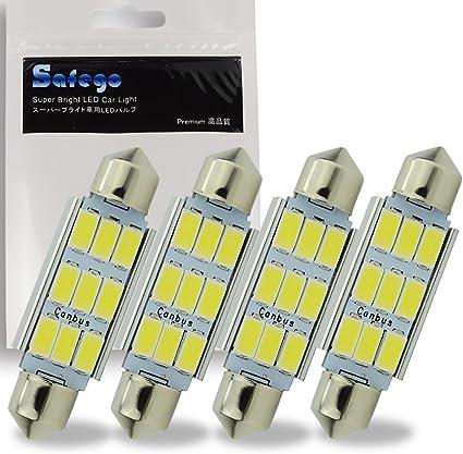 10 x Bombillas 6 LED SMD 3528 blanca para coche carros luz festoon dome SODIAL R