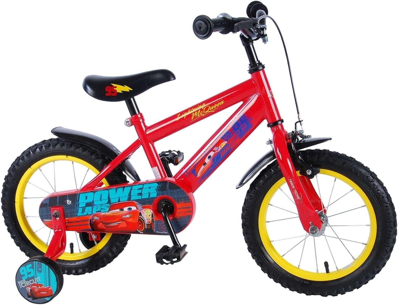 14 pulgadas bicicleta Disney Cars 3 bicicleta infantil ruedines Niños 81448 de CH: Amazon.es: Deportes y aire libre