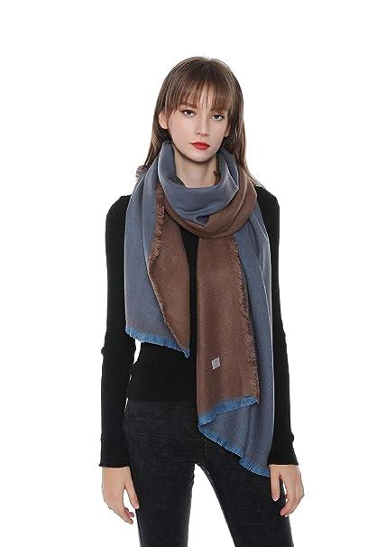 UMIPUBO Sciarpa Donna Invernale Grande Imitazione Cashmere Moda Scialle  Elegante Bicolore Scollo Liscio e Confortevole Scarf 342ac2c863b8