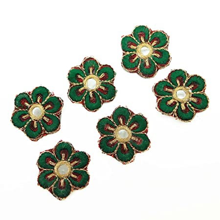 Indian Appliques Embroidered Applique Craft Embroidered Patches For 12 Pieces