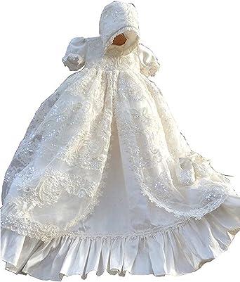 Kelaixiang Long Christening Gowns Baby-Girls Baptism Dresses