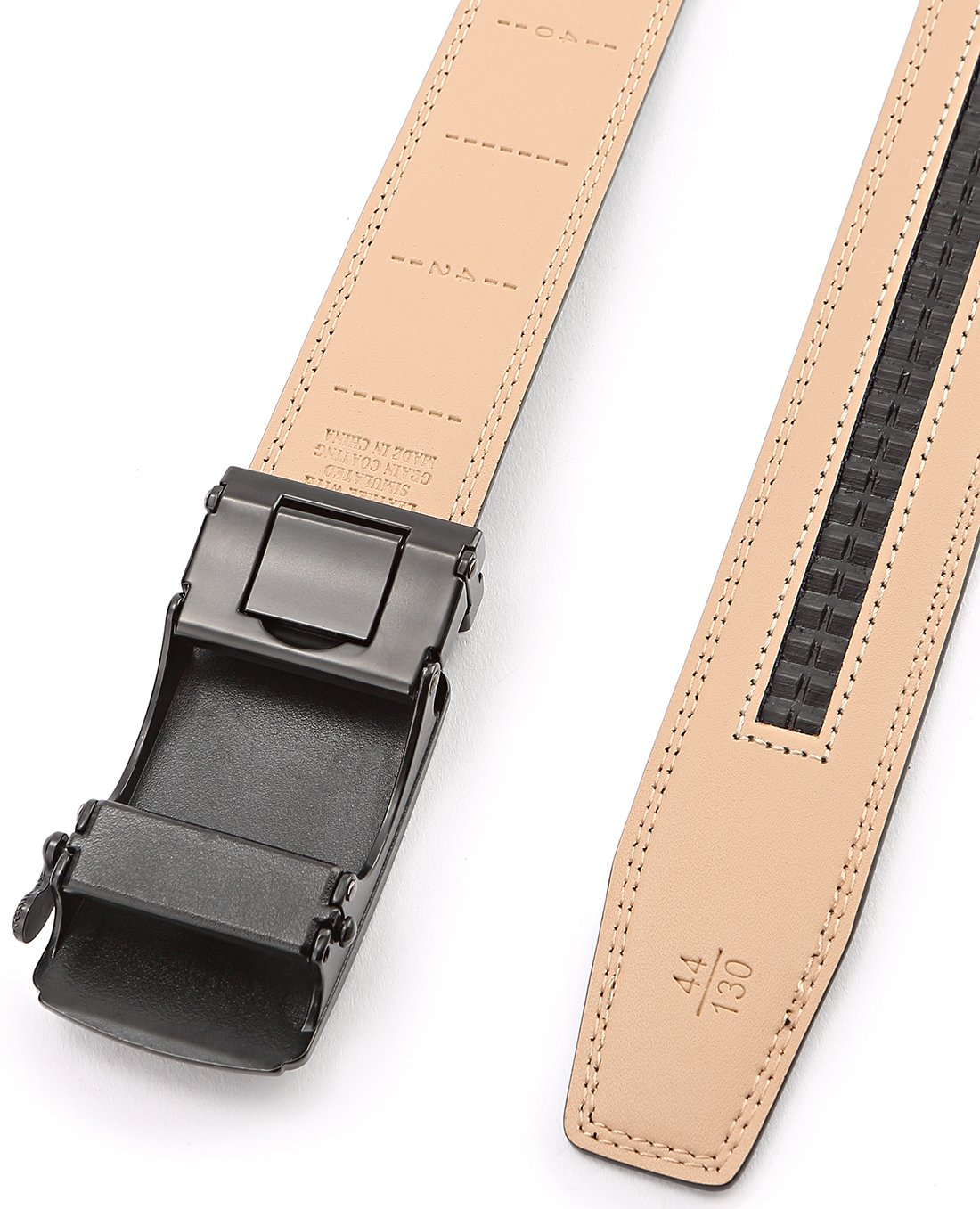 Men's Belt,Bulliant Slide Ratchet Belt For Men Genuine Leather, Trim To Fit