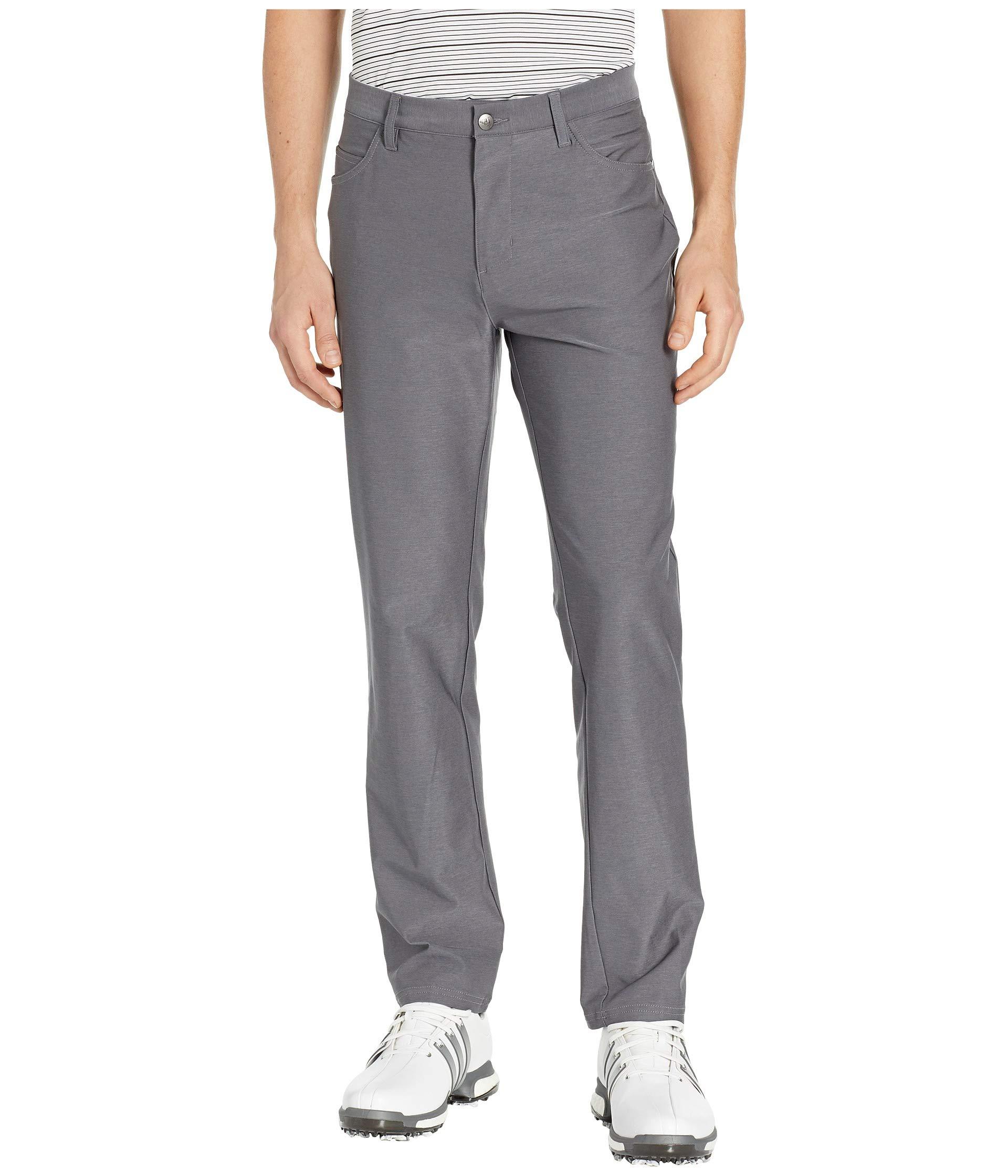 adidas Golf Ultimate Heather 5-Pocket Pant, Grey Three Heather, 4034 by adidas