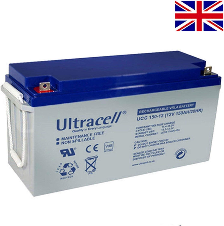 Batería Solar Gel Ciclo Profundo 150Ah 12V Energía Solar estanca Ultracell