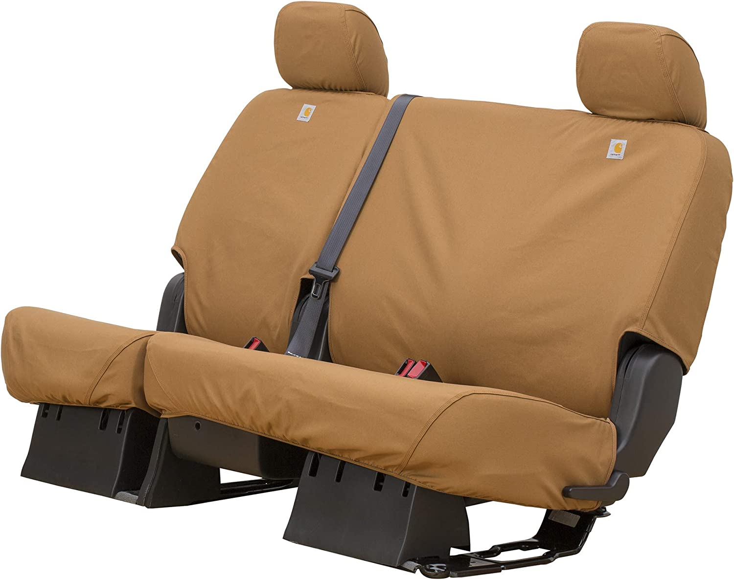 Brown SSC8455CABN Duck Weave Covercraft Carhartt SeatSaver Second Row Custom Fit Seat Cover for Select Toyota Sequoia Models