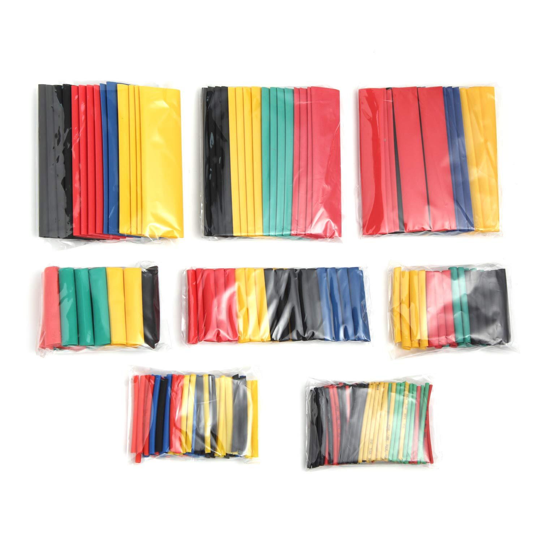 5 colores 8 tama/ños de aislamiento el/éctrico 328 tubos termorretr/áctiles