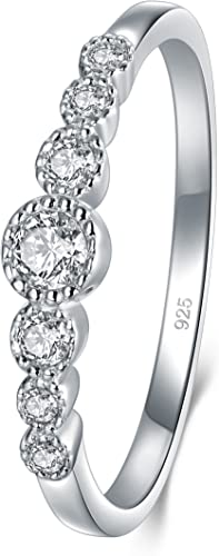 Cubic Zirconia CZ Eternity Engagement Wedding Band Ring