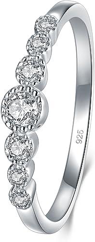 Cubic Zirconia CZ Eternity Engagement Wedding Band Ring