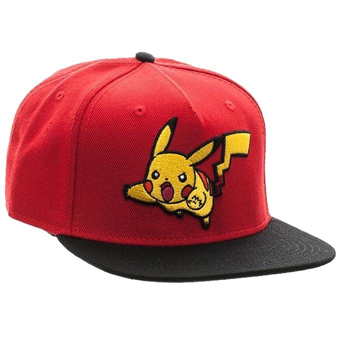 Amazon.com  bioWorld Pokemon Pikachu Color Block Snapback Hat  0127e7277ce