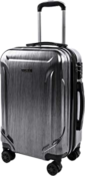 Reyleo CarryOne Expandable 20in PC+ABS Spinner Wheels Luggage Suitcase