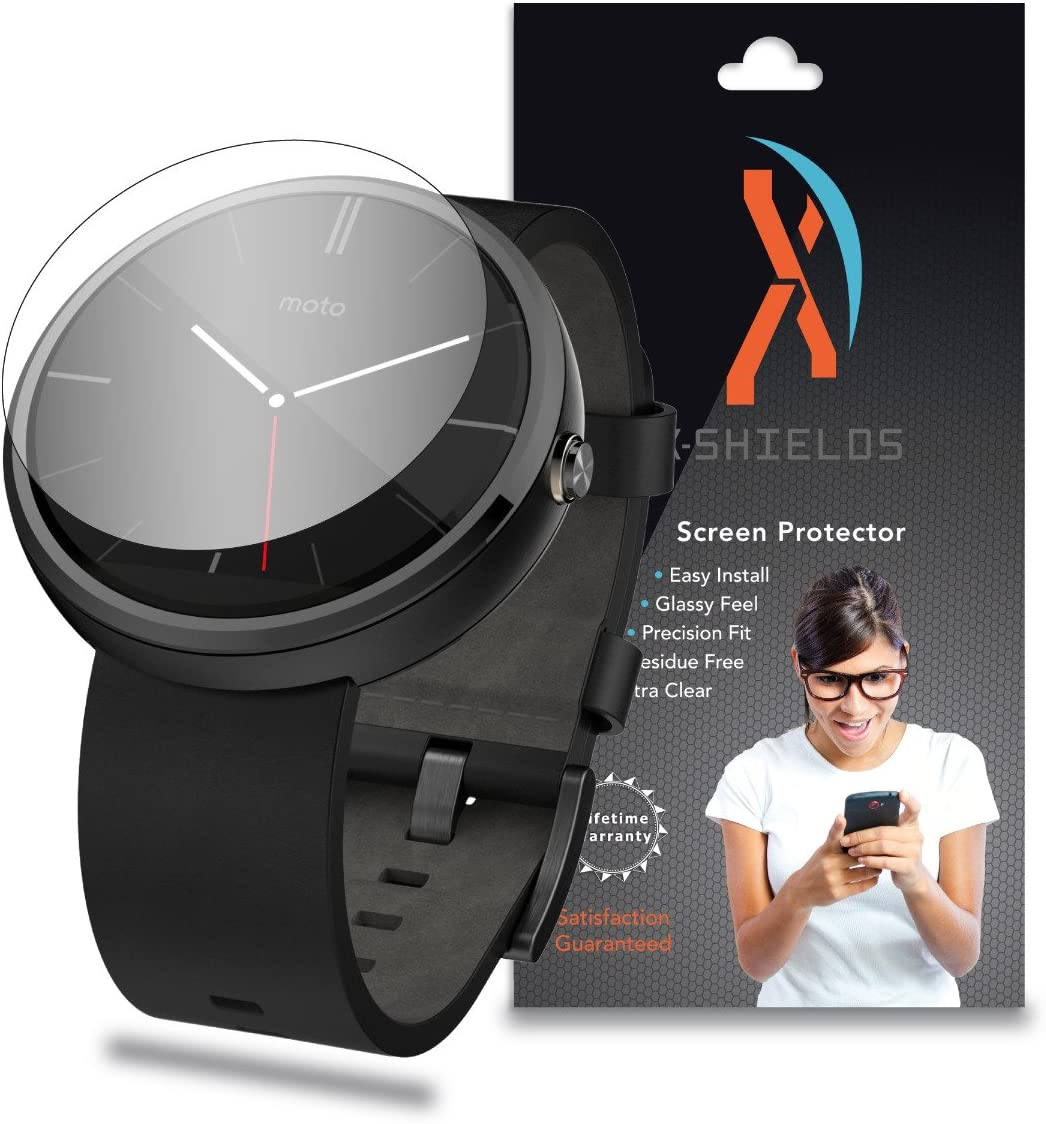XShields© (4-Pack) Screen Protectors for Motorola Moto 360 Smartwatch (Ultra Clear)