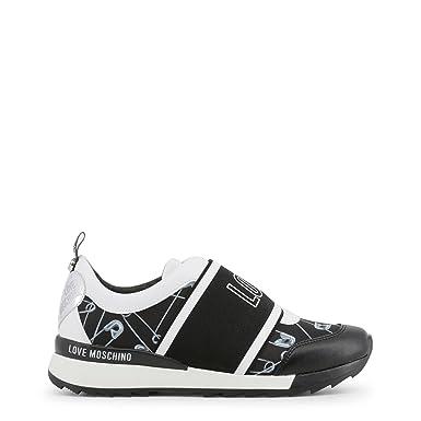 653c24950e0e1 Amazon.com: Love Moschino Women Black Sneakers: Clothing