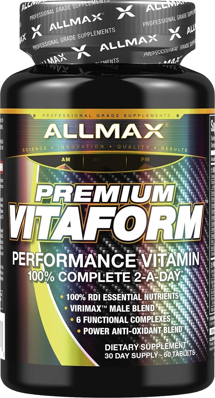 ALLMAX Nutrition, Premium Vitaform Performance MultiVitamin for Men, 60 Tablets