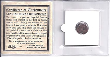Ancient Roman Coin Certified Authentic Over 1500 Years Old!