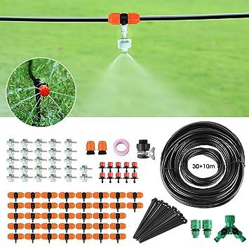 Super FIXKIT 40M Bewässerungssystem, 120PCS Garten Bewässerung Kit YU29