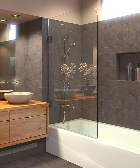 Bañera sin marco mampara de ducha, puertas, 60 x 30, 5/16 (8 mm) de cristal, cromo pulido bisagras. Modelo 603008shr: Amazon.es: Bricolaje y herramientas