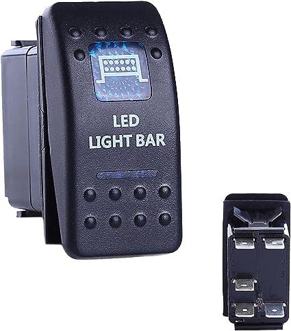 Oshide Auto Kfz Boot Blaue Led Beleuchtet Licht Wippschalter Ein Aus Schalter 12 24v Wasserdicht Led Light Bar Auto