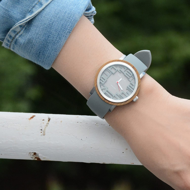 Relax Akku Frauen Armband Analoge Uhr Grau