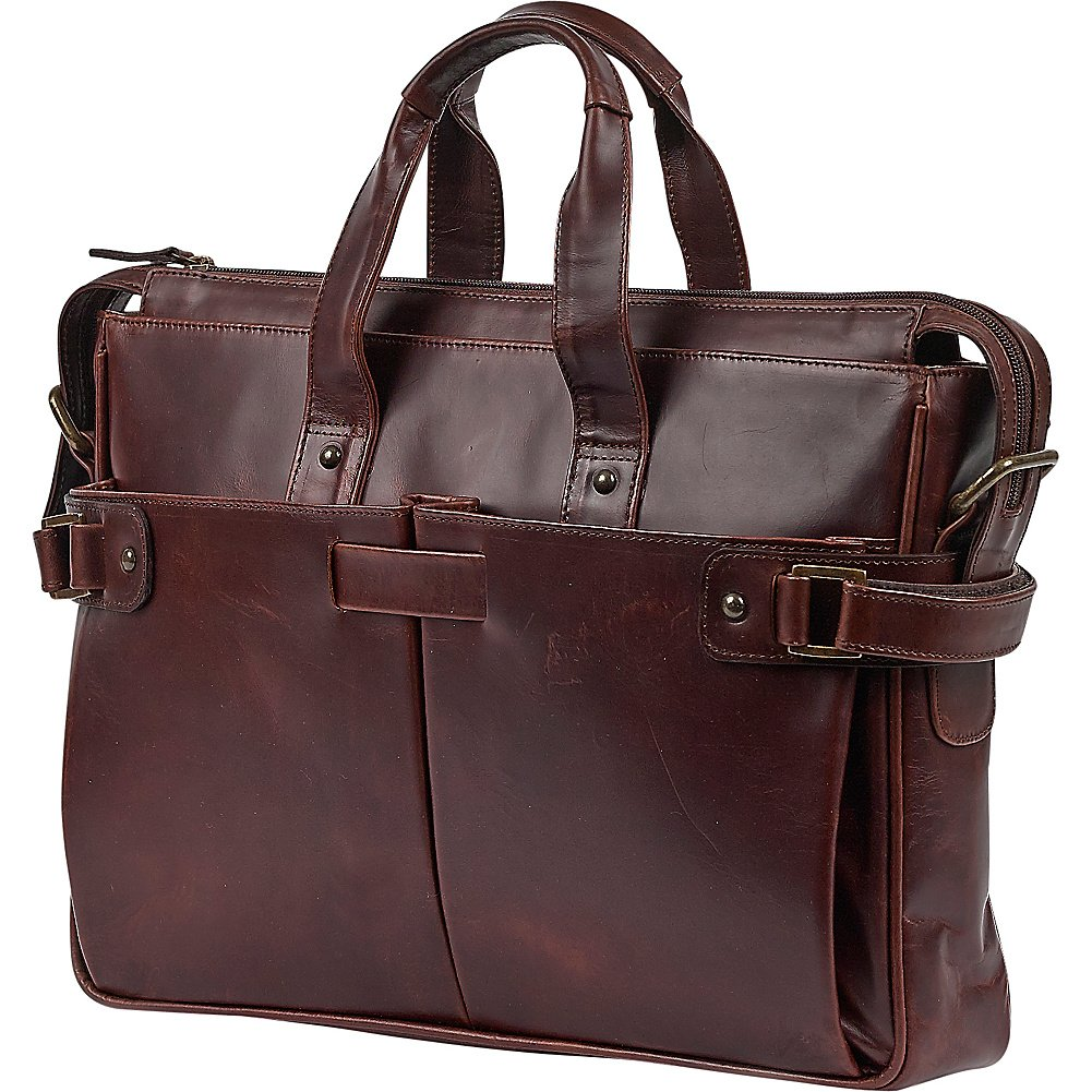 outlet Claire Chase Brody Briefcase, Dark Brown, One Size