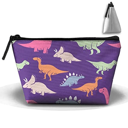 Sapoy portátil bolsa de almacenamiento de dibujos animados dinosaurio bolsa de embrague bolso de mano