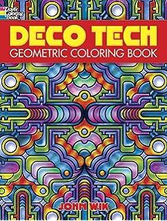 deco tech geometric coloring book - Paisley Designs Coloring Book