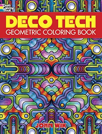dover publications deco tech geometric coloring book