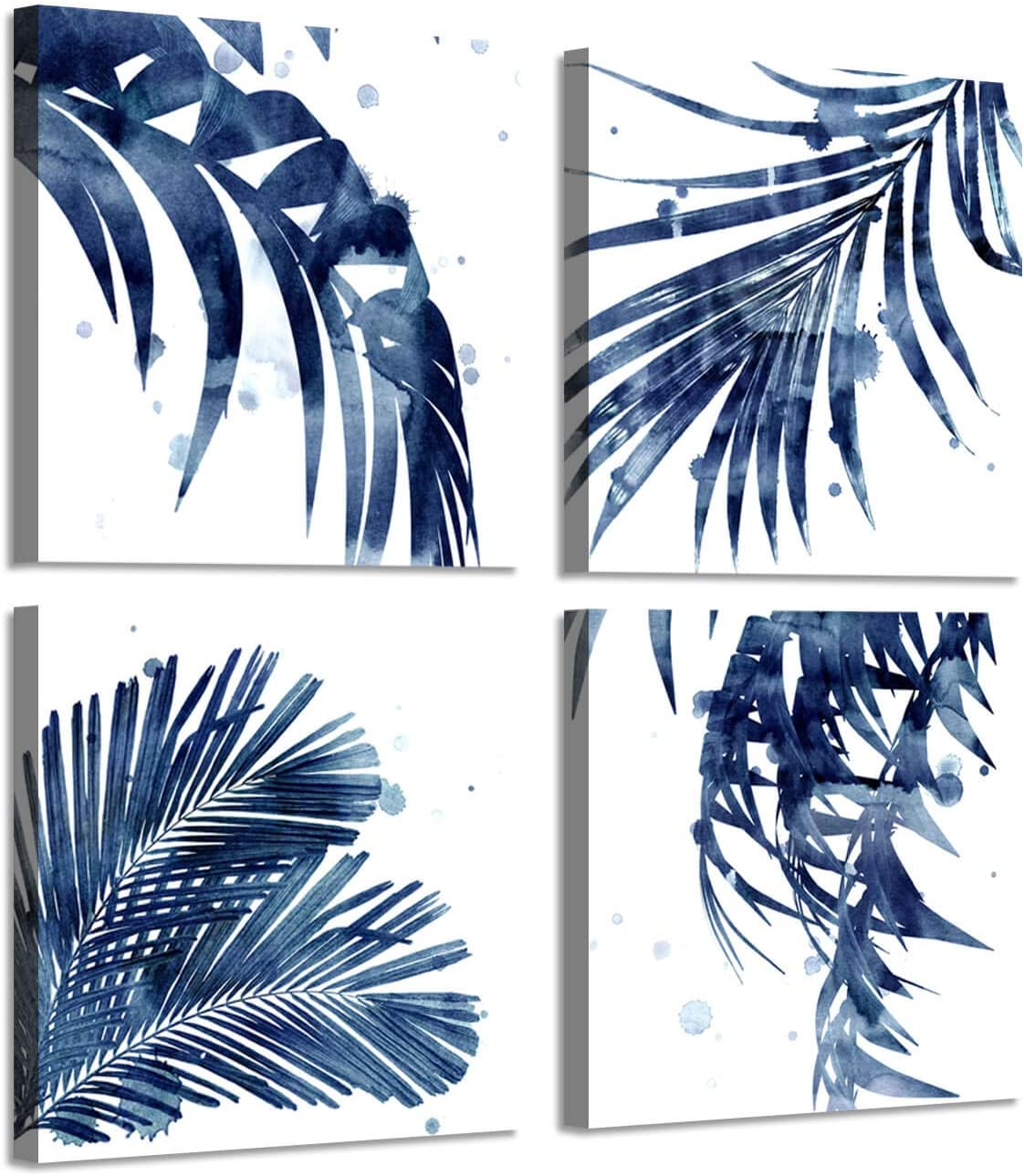 Amazon Com Natural Picture Leaf Artwork Paintings Palm Leaves Graphic Art Print On Canva Set For Wall Murals Posters Prints