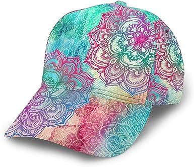 Gorra de béisbol Hippie Redonda con Mandalas de arcoíris, Gorras ...