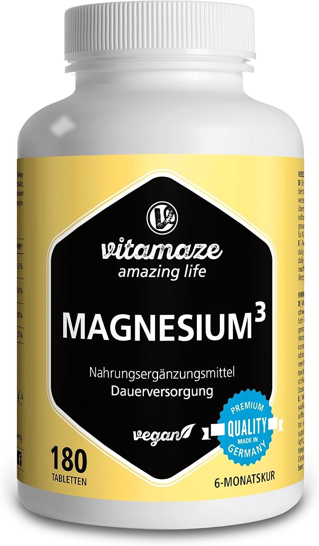 Vitamaze® Magnesio³ Complejo de 350 mg magnesio elemental 180 ...