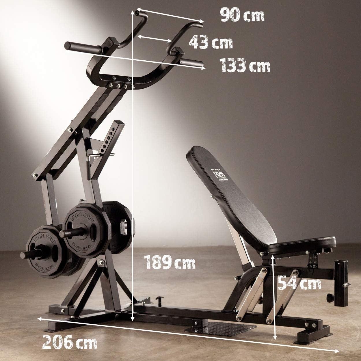 Marcy Pm4400 Pro Banc De Musculation A Domicile Noir Amazon Fr Sports Et Loisirs