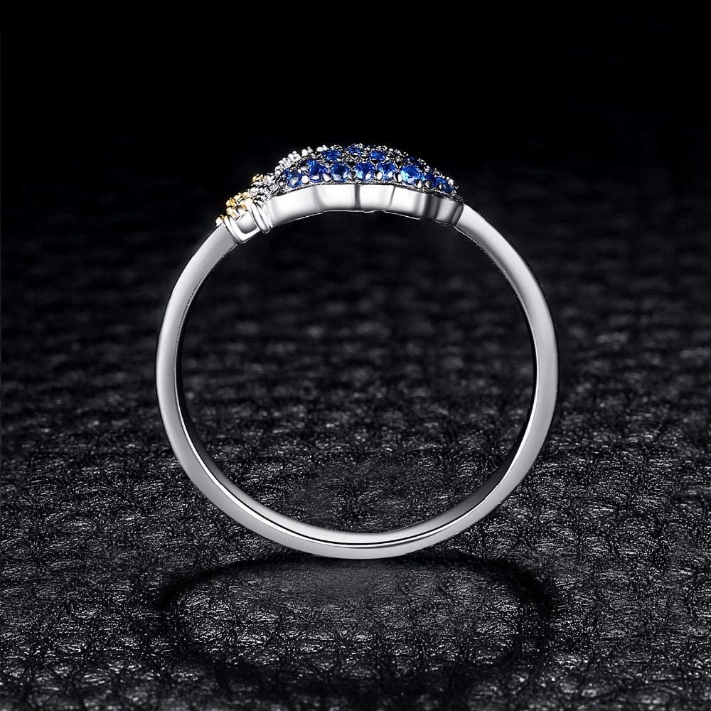 HCBYJ Lady ring Ring with CZ Womens Silver Jewelry Plated with a Birthday Ring