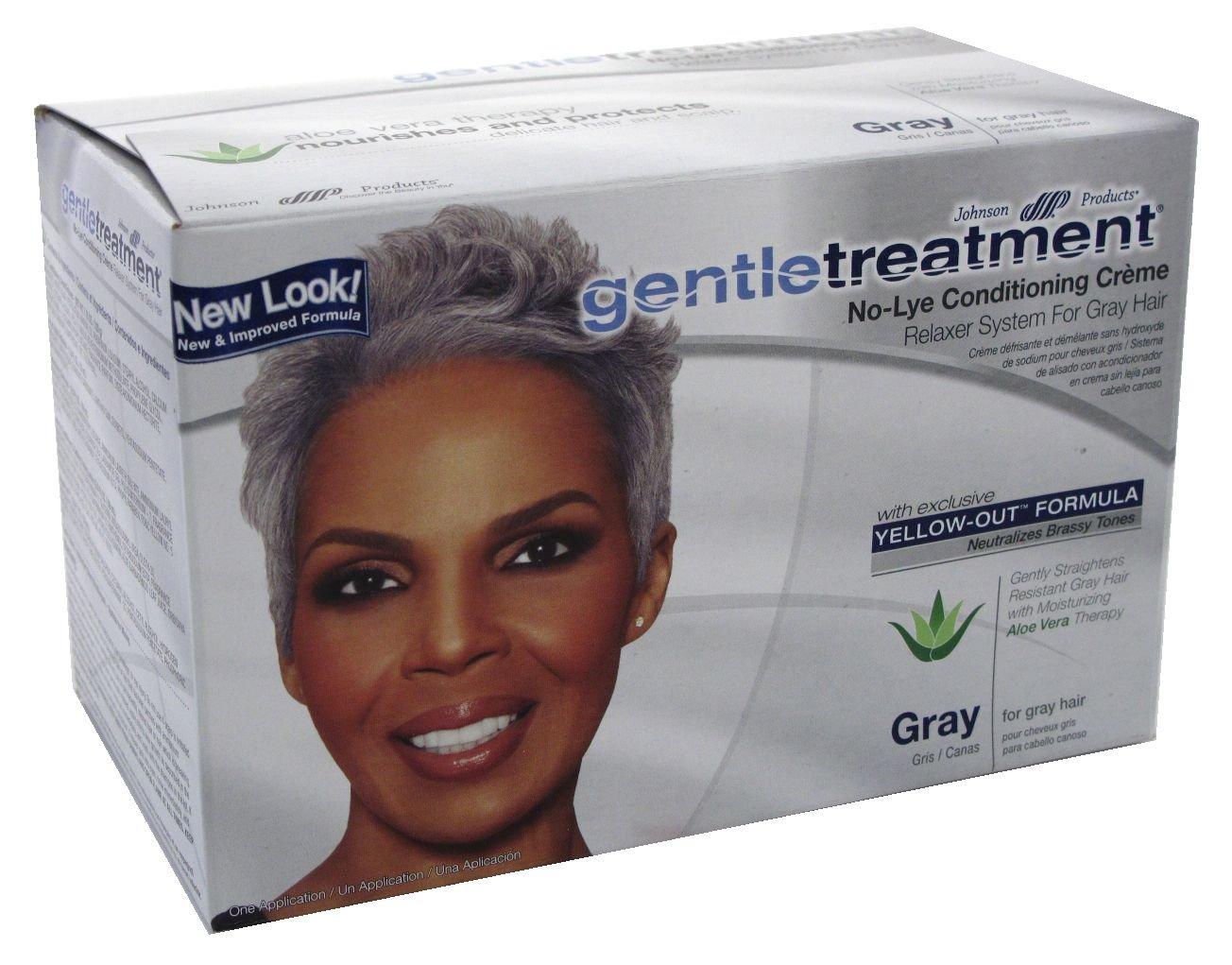 Amazon Gentle Treatment Relaxer For Grey No Lye Kit Beauty